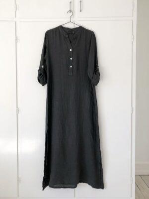 Hør kjole Mørkegrå