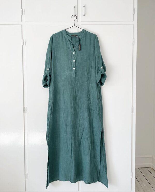 Hør kjole Mystik grøn